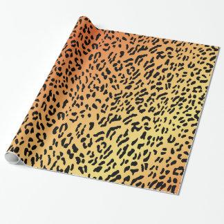 Papier Cadeau Papier d'emballage de motif de guépard