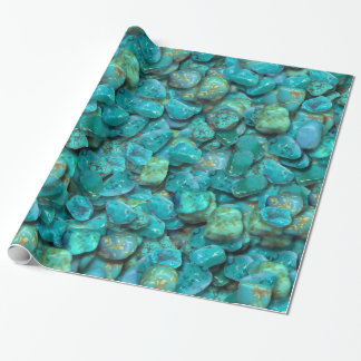 Papier Cadeau Papier d'emballage de motif de turquoise