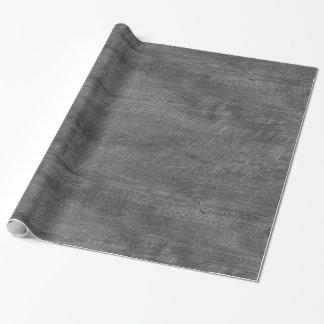 Papier Cadeau papier d'emballage de motif en bois gris