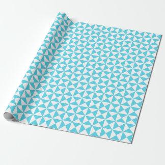 Papier Cadeau Papier d'emballage de motif moderne bleu d'Aqua