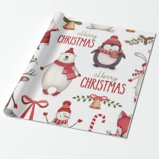 Papier Cadeau Papier d'emballage de Noël