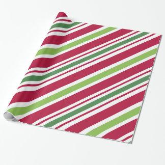 Papier Cadeau Papier d'emballage de Noël audacieux de rayure