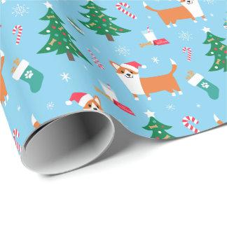 Papier Cadeau Papier d'emballage de Noël de corgi de Gallois