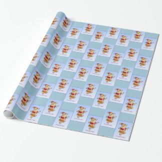 Papier Cadeau Papier d'emballage de Noël de corgi de Père Noël