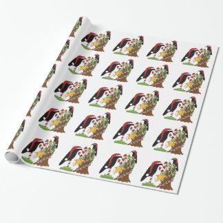 Papier Cadeau Papier d'emballage de Noël de corneille de pays