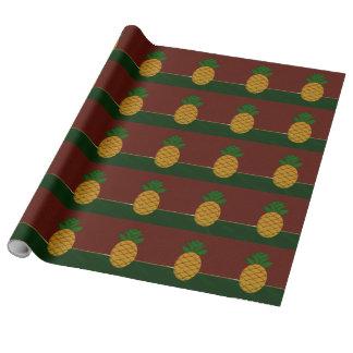 Papier Cadeau Papier d'emballage de Noël de damassé et d'ananas