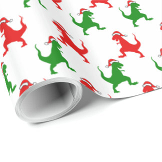 Papier Cadeau Papier d'emballage de Noël de Dino