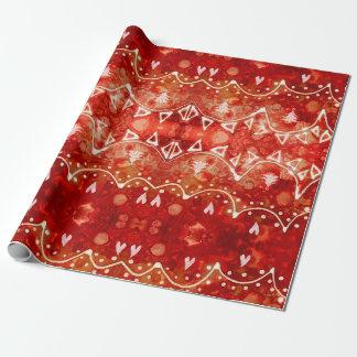Papier Cadeau Papier d'emballage de Noël de fête de guirlandes