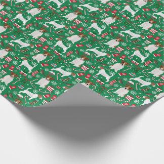 Papier Cadeau Papier d'emballage de Noël de Jack Russell Terrier