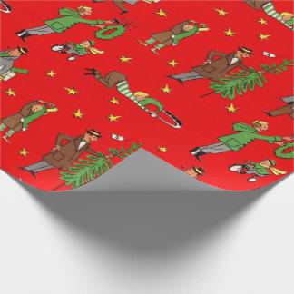 Papier Cadeau Papier d'emballage de Noël de la moitié du siècle