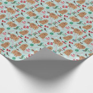 Papier Cadeau Papier d'emballage de Noël de Pomeranian