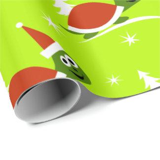Papier Cadeau Papier d'emballage de Noël de tortue de Père Noël