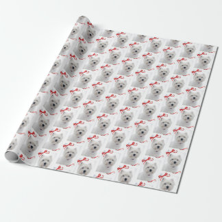 Papier Cadeau Papier d'emballage de Noël de Westie