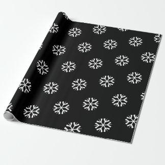 Papier Cadeau Papier d'emballage de Noël minimal noir