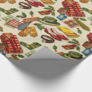 Papier Cadeau papier d'emballage de Noël vintage des années 1950