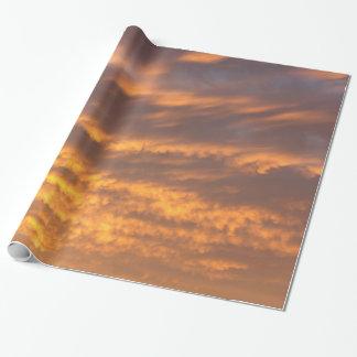 Papier Cadeau Papier d'emballage de nuages de coucher du soleil