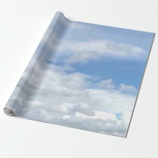 Papier Cadeau Papier d'emballage de nuages merveilleux mous