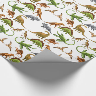 Papier Cadeau Papier d'emballage de Paleo de dinosaure