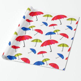 Papier Cadeau Papier d'emballage de parapluie coloré