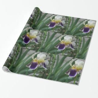 Papier Cadeau Papier d'emballage de photo de fleur d'iris