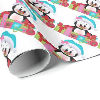 Papier Cadeau Papier d'emballage de pingouin de Noël du fisrt du