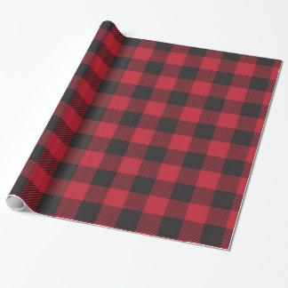 Papier Cadeau Papier d'emballage de plaid rouge de Buffalo