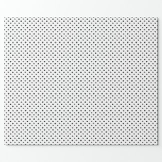 Papier Cadeau Papier d'emballage de points noirs d'aquarelle