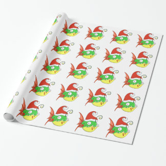 Papier Cadeau Papier d'emballage de poisson de Père Noël