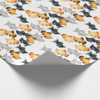 Papier Cadeau Papier d'emballage de poissons tropicaux