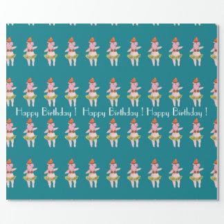Papier Cadeau Papier d'emballage de porc de Hulu de joyeux