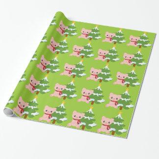 Papier Cadeau Papier d'emballage de porc de Noël