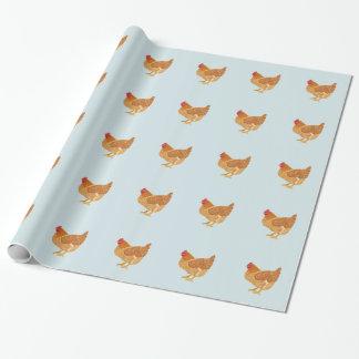 Papier Cadeau Papier d'emballage de poulet