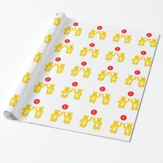 Papier Cadeau Papier d'emballage de premier anniversaire de