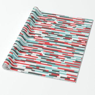 Papier Cadeau Papier d'emballage de rayures colorées de solides