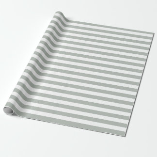 Papier Cadeau Papier d'emballage de rayures de gris argenté