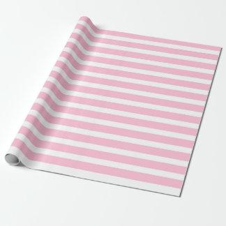 Papier Cadeau Papier d'emballage de rayures doucement roses et