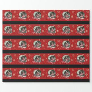 Papier Cadeau Papier d'emballage de repos vintage de Krampus