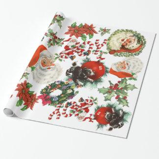 Papier Cadeau Papier d'emballage de rétros vacances vintages du