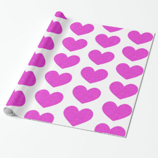 Papier Cadeau Papier d'emballage de Saint-Valentin lumineuse de