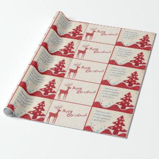 Papier Cadeau Papier d'emballage de style campagnard de Joyeux
