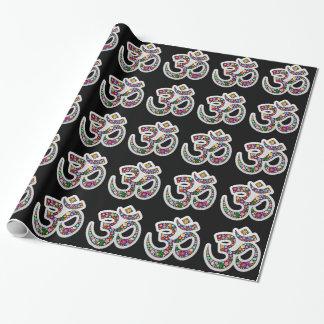 Papier Cadeau Papier d'emballage de symbole de yoga de l'OM Aum
