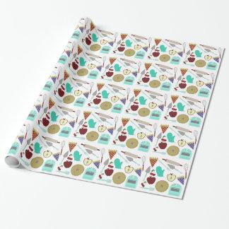Papier Cadeau Papier d'emballage de thème de tarte