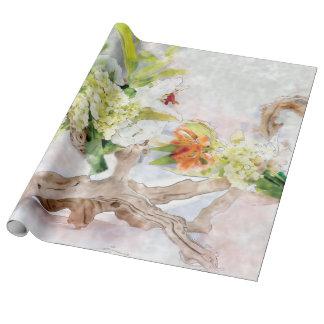 Papier Cadeau Papier d'emballage de toile d'aquarelle de Bella