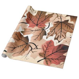 Papier Cadeau Papier d'emballage de toile d'automne de plancher