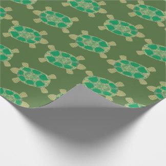 Papier Cadeau Papier d'emballage de tortues vertes
