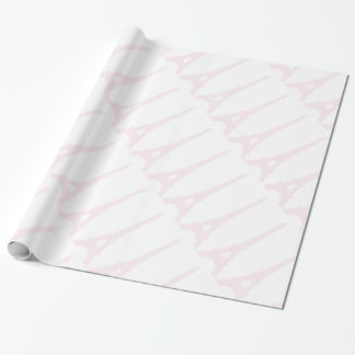 Papier Cadeau Papier d'emballage de Tour Eiffel assez rose