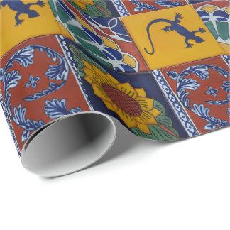 Papier Cadeau papier d'emballage de tuile mexicaine