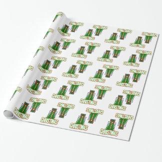 Papier Cadeau Papier d'emballage de vacances d'arbre d'entrave