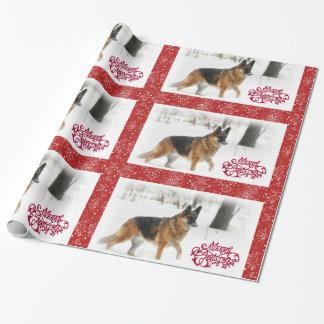 Papier Cadeau Papier d'emballage de vacances de berger allemand