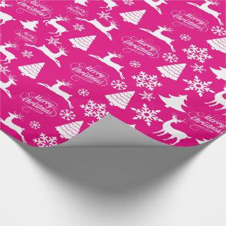 Papier Cadeau Papier d'emballage de vacances de Noël de roses